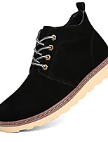Men's Boots Work & Safety / Comfort PU Outdoor / Casual Low Heel Lace-up Black / Blue / Brown Walking / Others