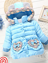 Girl's Casual/Daily Embroidered Down & Cotton PaddedCotton Winter Blue / Pink / Red