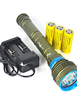 10000LM 7x XM-L2 LED Scuba Diving Flashlight 3X26650 Torch Underwater 200m Full set Of Battery Charger