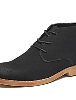 Men's Oxfords Spring / Fall / Winter  PU / Cowhide Casual Flat Heel Others / Lace-up Black / Brown / Gray Others