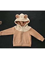 Girl's Casual/Daily Solid Down & Cotton PaddedCotton Winter / Fall Brown