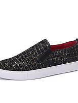 גברים-נעלי ספורט-PU-נוחות-כסוף זהב-יומיומי-עקב שטוח