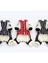 Dog Coat Red / Blue / Black Dog Clothes Winter Cartoon Cute / Casual/Daily