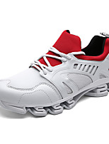 Men's Sneakers Spring / Fall Comfort PU Outdoor / Athletic Flat Heel Lace-up Black / White / Silver Sneaker