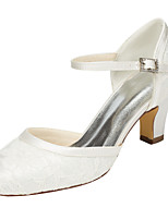 Women's Heels Spring / Fall Others Stretch Satin Wedding / Party & Evening / Dress Chunky Heel Crystal Ivory / White Others