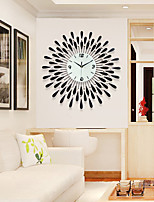 Moderno/Contemporâneo Casas Relógio de parede,Outros Acrilico / Vido / Metal 60*60cm Interior Relógio