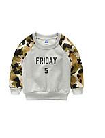 Boy's Casual/Daily Color Block Hoodie & SweatshirtCotton Spring / Fall Gray