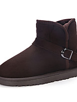 Men's Boots Spring / Fall Comfort PU Casual Flat Heel Slip-on Black / Brown / Khaki Sneaker