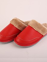 Dames Slippers & Flip-Flops Winter Slingback Leer Informeel Platte hak Overige Rood Others
