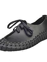 Черный / Серый / Бежевый-Женский-На каждый день-Полиуретан-На плоской подошве-Удобная обувь-Кеды