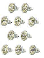 10PCS E14/GU10/E27 60SMD 3528 550-600LM AC220V Warm White/White Decorative/Waterproof  LED Spotlight