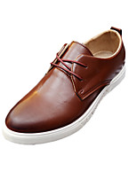 Men's Oxfords Spring / Fall Comfort PU Casual Flat Heel Black / Brown / Yellow Sneaker
