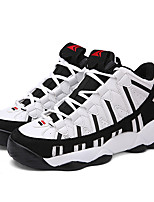 Men's Sneakers Spring / Fall Comfort PU Athletic Flat Heel Others / Lace-up Black / White Sneaker