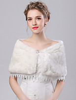Women's Wrap Capelets Faux Fur / Imitation Cashmere Wedding / Party/Evening Lace / Rhinestone