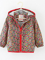 Girl's Casual/Daily Floral Jacket & CoatPolyester Spring / Fall Red