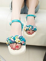 Women's Sandals Others PU Casual Black Blue White