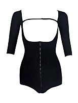 Corset Vêtement de nuit Femme,Sexy Couleur Pleine-Mince / Moyen Nylon Noir Aux femmes