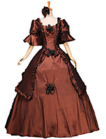 One-Piece/Dress Gothic Lolita / Sweet Lolita / Classic/Traditional Lolita / Punk Lolita Steampunk® / Victorian Cosplay Lolita Dress Brown
