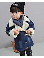 Girl's Casual/Daily Solid Suit & BlazerCotton Winter / Fall Blue
