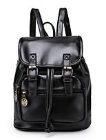 Casual Backpack Women PU Purple Brown Black