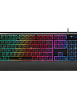 про (Rapoo) V56 смешанный свет машины абзацах игры клавиатуры черный