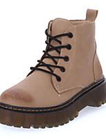 Черный / Серый / Хаки-Женский-На каждый день-Полиуретан-На плоской подошве-Удобная обувь-Кеды