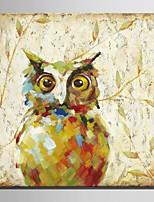 Ручная роспись Животное Картины маслом,Modern / Европейский стиль 1 панель Холст Hang-роспись маслом For Украшение дома