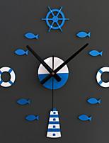 Moderno/Contemporâneo Animais / Férias / Inspiracional / Família / Desenho Animado Relógio de parede,Redonda / Inovador Acrilico / Vido