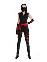 Cosplay Costumes Ninja Movie Cosplay Black Solid Leotard/Onesie / Belt Halloween / Carnival Female Polyester
