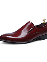 Men's Loafers & Slip-Ons Genuine Leather Career / Party & Evening / Casual Flat Heel Slip-on Flat Shoes