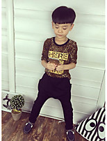 Boy's Casual/Daily Leopard Tee / Clothing SetCotton Spring / Fall Brown