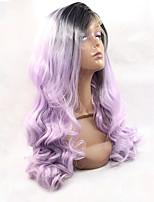 Light Purple Wig Black Ombre Purple Lace Front Wig Synthetic Heat Friendly Wig Hot Sale.