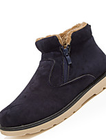 Men's Boots Casual Shoes Comfort Synthetic Casual Flat Heel Lace-up Black / Brown / Navy