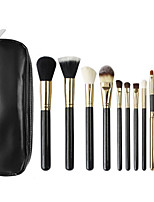 12 Makeup Brushes Set Goat Hair Professional / Portable Wood Face / Eye / Lip