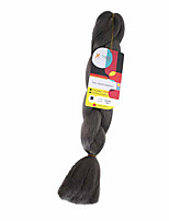 Others Jumbo Haarverlängerungen 18Inch Kanekalon Recommended Buy 4 Packs Full Head Strand 115g Gramm Haar Borten