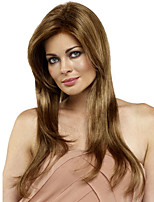Natural Hair Heat Resistant Synthetic Wigs High Quality Long Staight Centre Parting Wigs