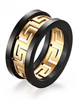 Кольца Без камня Мода / обожаемый / Стиль Свадьба / Для вечеринок / Повседневные Бижутерия Нержавеющая сталь / Позолота Мужчины