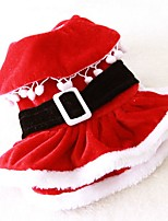 New 2016 Lovely Cotton Santa's Costume Dress Pets Clothing for Dogs Puppies Clothes (Assorted Sizes)
