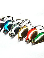 1 pcs Spoons / Fishing Lures Spoons Random Colors 2.5 g Ounce mm inch,Hard Plastic Bait Casting