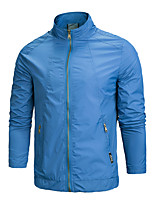 Hiking Tops Men's Waterproof / Breathable Spring / Fall/Autumn Elastane Khaki / Black / Blue L / XL / XXL Downhill / Running-Sports