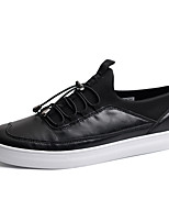 Men's Sneakers Spring / Fall Comfort PU Casual Flat Heel Others / Lace-up Black / Gray Walking
