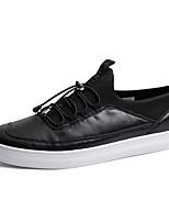Черный / Серый-Мужской-На каждый день-Полиуретан-На плоской подошве-Удобная обувь-Кеды