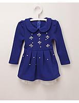 Girl's Casual/Daily Solid DressCotton Winter / Spring / Fall Blue / Pink