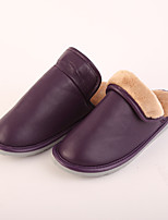 M.livelihood.H Women's Slippers & Flip-Flops Winter Slingback Cowhide Casual Flat Heel Others Purple Others-LB2016023