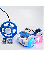 Car Racing 566-9A 110 Brush Electric RC Car / 2.4G Blue Ready-To-Go Remote Control Car