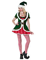 New Green Spirit Costumes Sexy Father Christmas Costumes Adult Women Cute Santa Suit Costumes