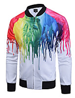 2016 new leisure fashion long-sleeved cardigan jacket 3D colorful paint printing size