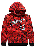 Women's Casual/Daily / Sports Simple / Active Short Hoodies,Geometric / Letter Red Hooded Long Sleeve Cotton Fall Medium Micro-elastic