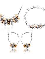 Thousands of colors    Jewelry Necklaces / Earrings / Bracelets & Bangles Jewelry set Crystal  1set Women -5531
