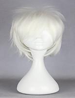 высокое качество Tokyo Ghoul kaneki кен синтетический Хэллоуин короткие белые партии способа косплей парик